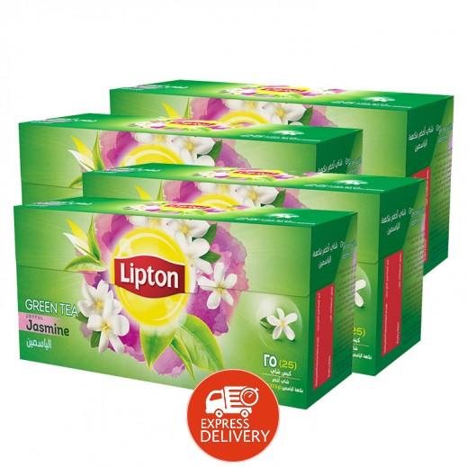 ليبتون - شاي أخضر بالياسمين 4 × 25 كيس