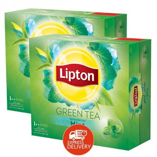ليبتون – شاي أخضر بالنعناع 100 كيس (2 حبة) - أسعار الجملة