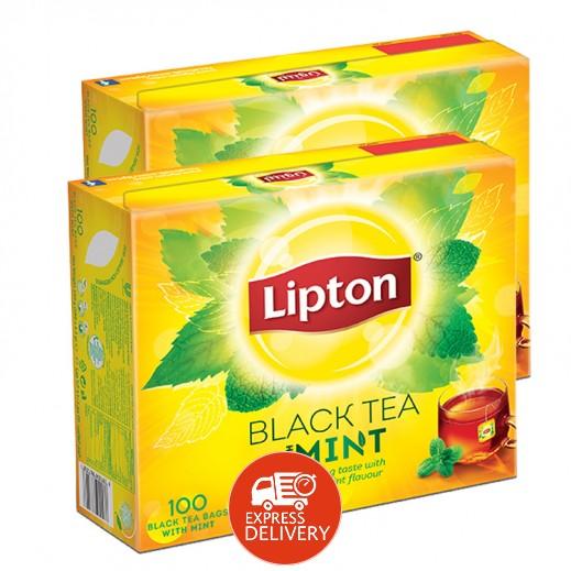 ليبتون – شاي أسود مع النعناع 100 كيس (2 حبة) - أسعار الجملة