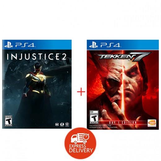 لعبة Injustice 2 + لعبة Tekken 7 لبلاي ستيشن 4 – NTSC