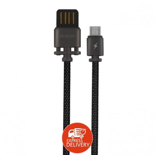 دبليو كي ديزاين – كيبل Micro USB معدني طول 1 متر – برونزي