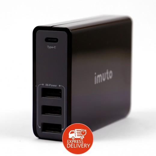 آيموتو برو – منصة الشحن 4 منفذ USB – أسود