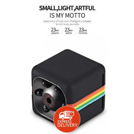 موتو - كاميرا تصوير صغيرة بدقة 12 ميجابيكسل 1080P HD مع ميكروفون مدمج وسماعة – أسود