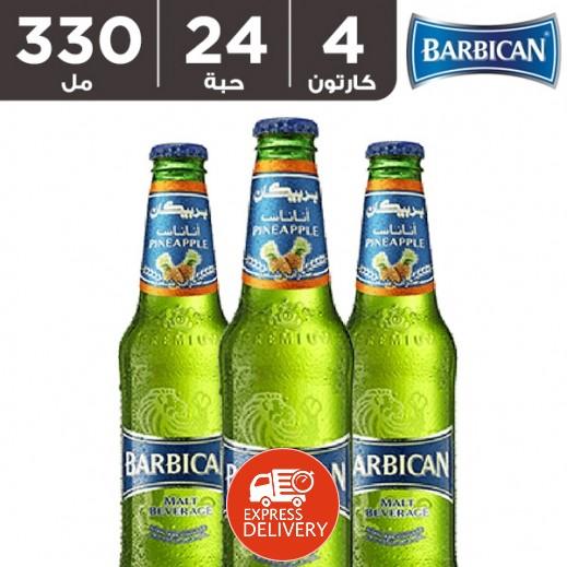 بربيكان - مشروب شعير بنكهة الأناناس 330 مل ( 4 كرتون × 6 حبة ) – أسعار الجملة