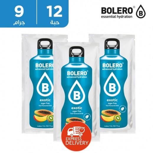 بوليرو  - شراب فوري خالٍ من السكر بنكهة  إكزوتيك 12 × 9 جم