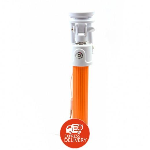 عصا السيلفي السلكية – برتقالي