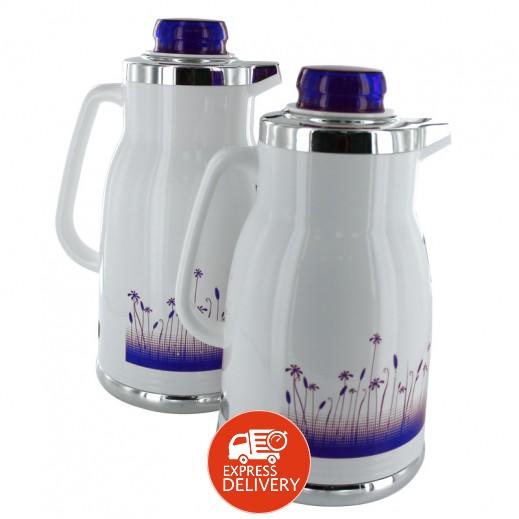 Regal Flask 2 Pieces Set White