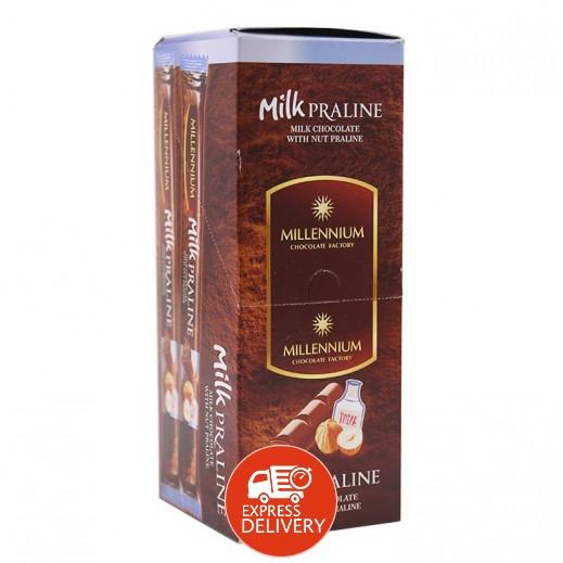ميلينيوم - شوكولاته بالحليب ميلينيوم بحشوة البرالين 24 × 38 جم