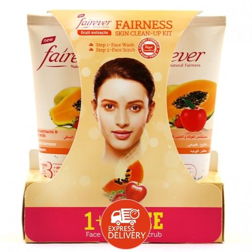 فير إيفر – غسول الوجه بمستخلص الفواكه والحليب الصافي 150 مل + مقشر للوجه 150 مل مجاناً