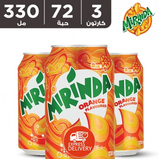 ميريندا – شراب البرتقال 72 × 330 مل