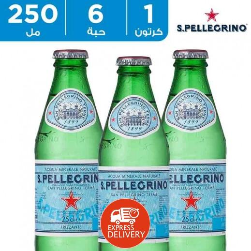 سان بيليغرينو – مياه معدنية طبيعية فوارة 6 × 250  مل