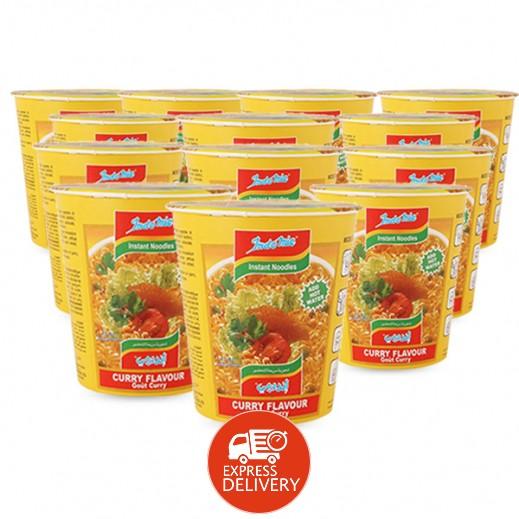 إندومي – شعيرية سريعة التحضير بنكهة الكاري - كوب 60 جم × 12 حبة - أسعار الجملة