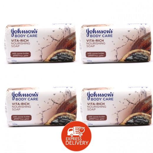 جونسون - صابون مُغذي بزبدة الكاكاو 4×125 جم