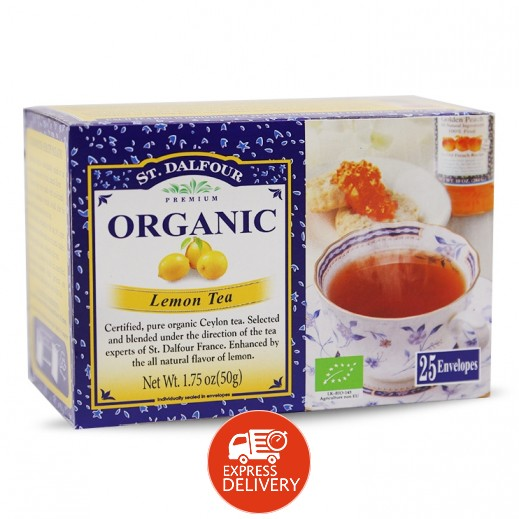 سان دالفور – شاي الليمون عضوي 25 كيس × 2 جم