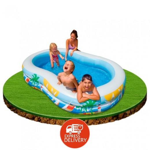 إنتكس – حمام سباحة شاطيء الجنة 262 × 160 × 46 سم