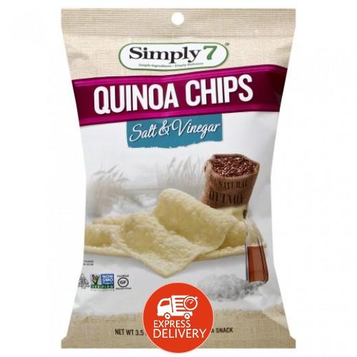 سيمبلي 7 – رقائق شيبس بالكينوا ونكهة الملح والخل خالٍ من الجلوتين 99 جم