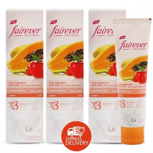 فير إيفر – كريم تفتيح طبيعي بمستخلص الفواكه والحليب الصافي 100 جم (2+1 مجاناً)