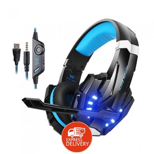 كوشن – سماعة رأس G9000 سلك 3.5 مم لبلاي ستيشن 4 والكمبيوتر – أسود و أزرق