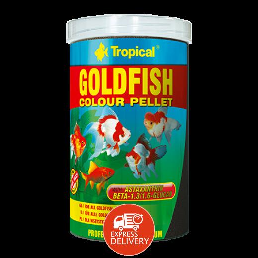 تروبيكال – حبوب ملونة لأسماك الزينة الذهبية 90 جم