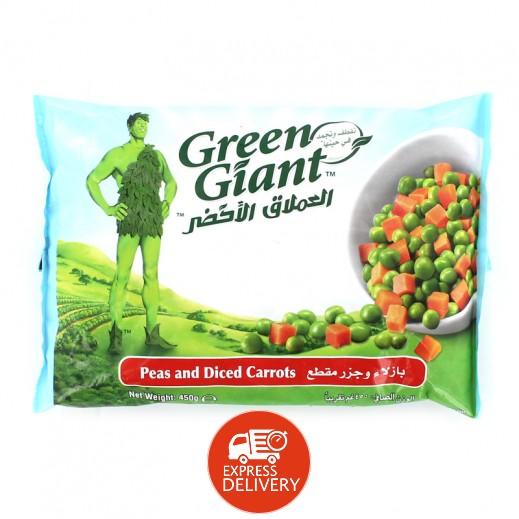 العملاق الأخضر- بازلاء وجزر مقطع مجمد 450 جم