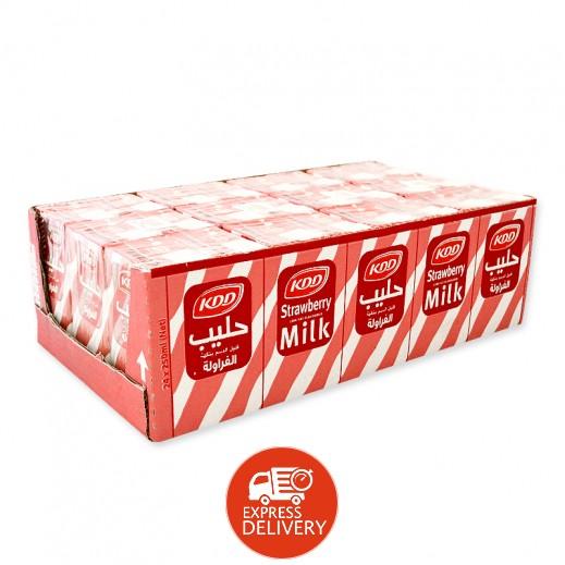 كى دى دى – حليب بنكهة الفراولة 250 مل (30 حبة )