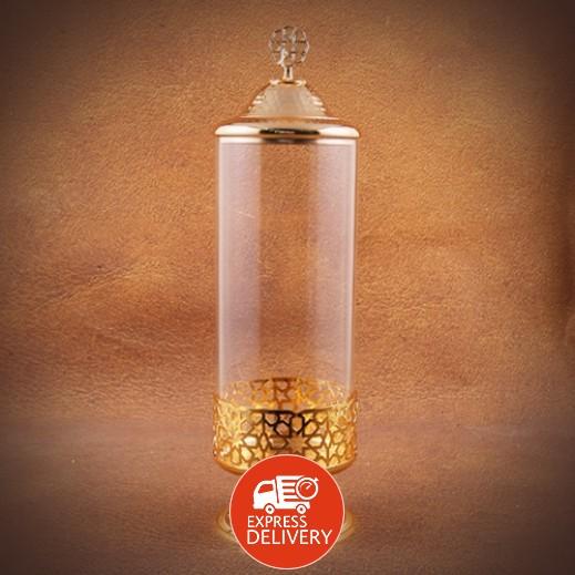 أوتانتيك – صندوق حلويات زجاجي - ذهبي