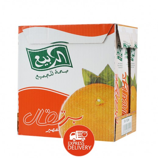 الربيع - عصير البرتقال نكتار 1 لتر (6 حبة)
