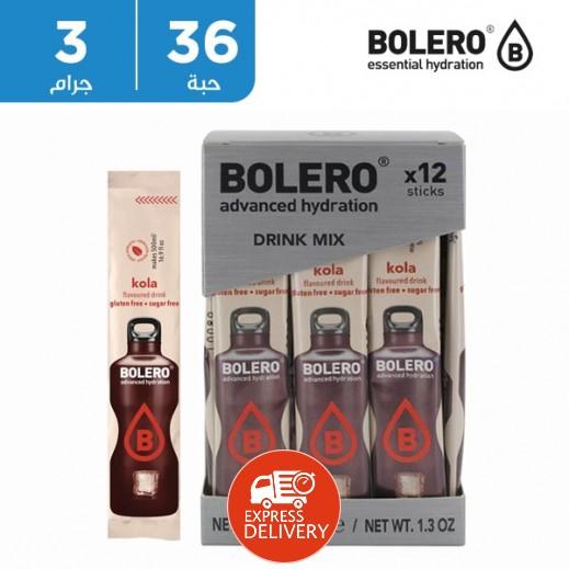 بوليرو  - شراب فوري خالٍ من السكر بنكهة الكولا 36 × 3 جم
