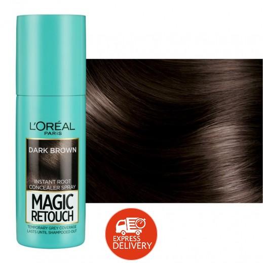 لوريال – صبغة شعر رتوش غير دائمة بخاخة لون بني غامق