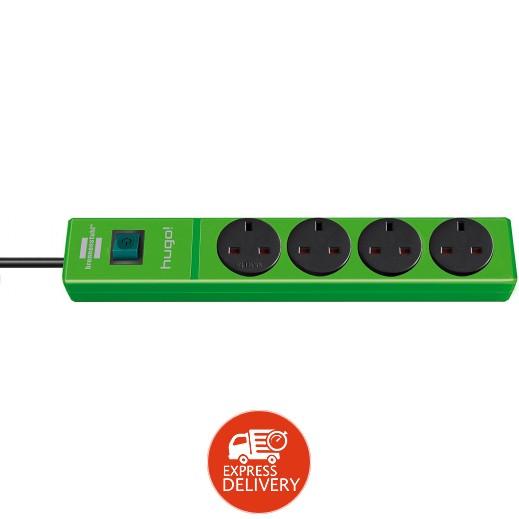 برينستول - وصلة تمديد كهربائية مع 4 مقابس 2 متر - اخضر