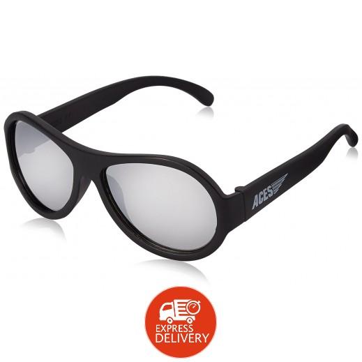 بيبيتورز – نظارات شمسية عاكسة للأطفال - أسود (7 - 14) سنوات