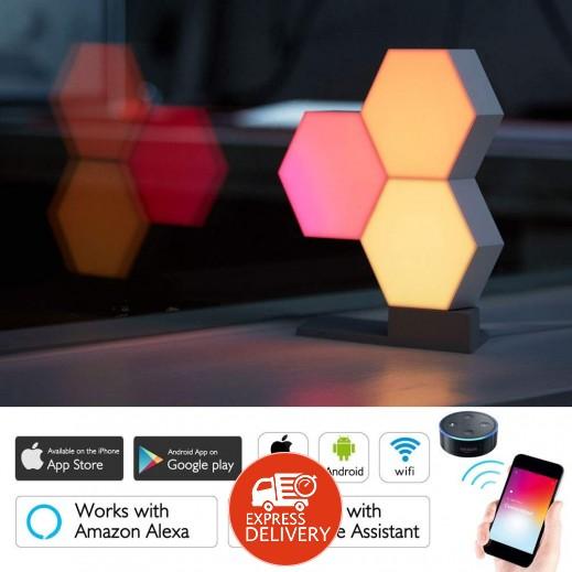 اضاءة LED لاسلكية ملونة 6 قطع مع قاعدة