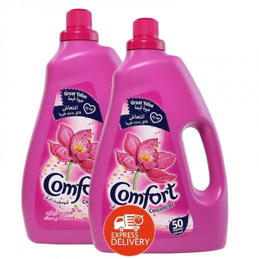 كومفورت – منعم الأقمشة المركز بزهرة الأوركيد والمسك 2 لتر (2 حبة) – أسعار الجملة