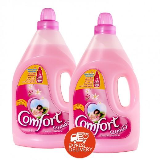 كومفورت – منعم الأقمشة (وردي) 4 لتر  (2 حبة) – أسعار الجملة