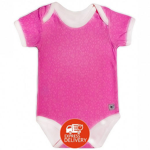 بيبي جلو – بدلة الخروج الذكية للبنات (0-3 شهور) - لون وردي