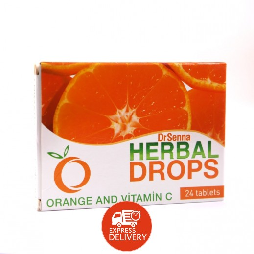 """دكتور سينا - مكمل غذائي """"بيت كيسل دروبس"""" بفيتامين C & والبرتقال 24 حبة"""