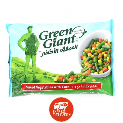 العملاق الأخضر – خضار مشكلة مجمدة مع ذرة 450 جم