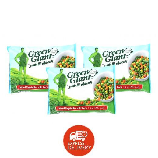 العملاق الأخضر – خضار مشكلة مجمدة مع ذرة 450 جم (3 حبة) - عرض التوفير