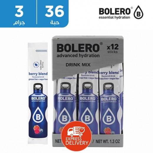 بوليرو  - شراب فوري خالٍ من السكر بنكهة خليط التوت 36 × 3 جم