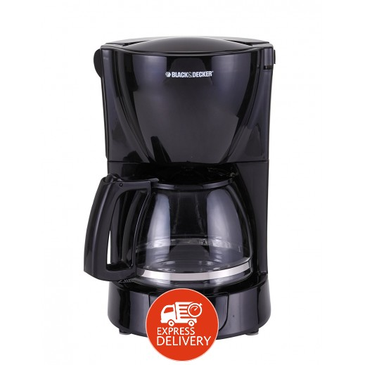 بلاك أند ديكر – ماكينة تحضير القهوة 8 – 10 أكواب 1.25 لتر بقوة 800 واط – أسود