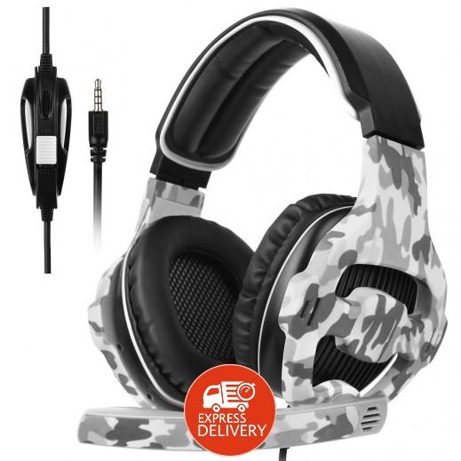 سادس – Spirit CAMO سماعة رأس لألعاب الفيديو مع ميكرفون – اسود مموة