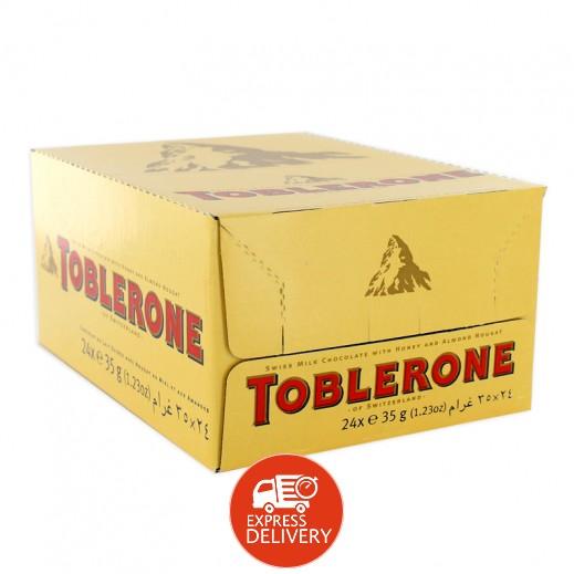 توبليرون - شوكولاتة بالحليب - كرتون 24 حبة × 35 جم
