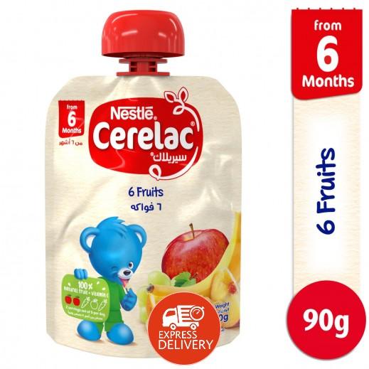 سيريلاك - طعام مهروس للأطفال من 6 فواكه 90 جم (من 6 اشهر)