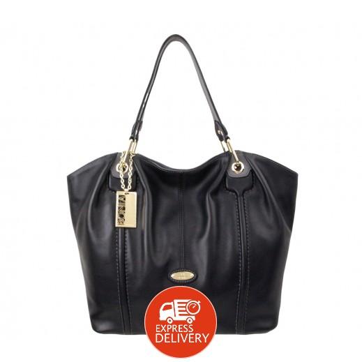 بونيا - حقيبة يد جلدية للسيدات - أسود