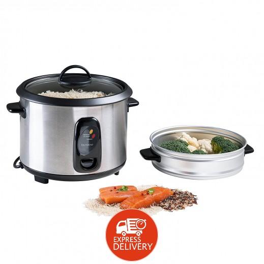دومو كليب – طباخ الأرز بالبخار ستانلس ستيل 1.8 لتر 700 واط – فضي