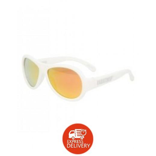 بيبيتورز – نظارات شمسية مستقطبة للأطفال - أبيض (0 - 3) سنوات