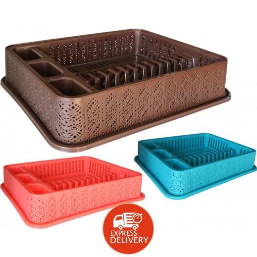 توفيكس - مجفف أطباق بلاستيكي  – ألوان متعددة