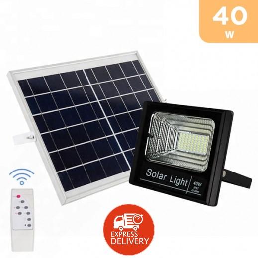 فاين بلو - مصباح LED يعمل بالطاقة الشمسية مع ريموت كنترول 40 واط