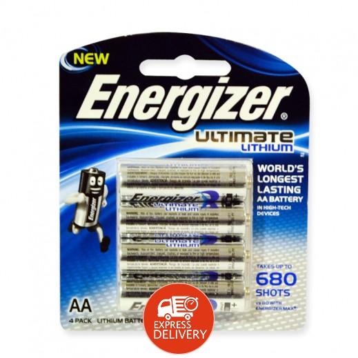 إنرجايزر - بطاريات ليثيوم AA - عبوة 4 حبة