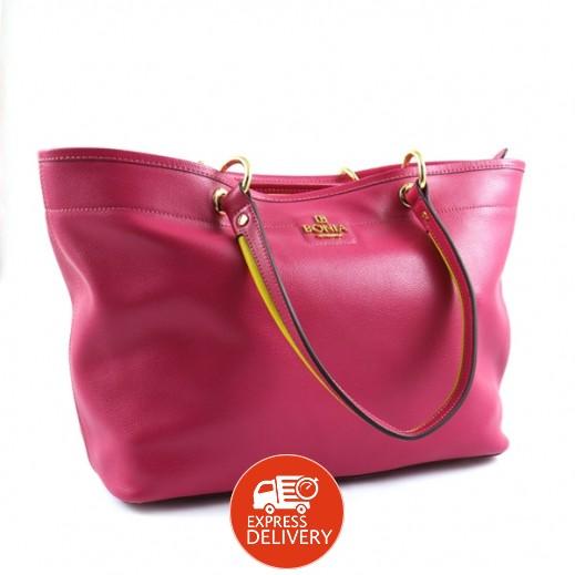 بونيا - حقيبة يد جلدية للسيدات - أرجواني